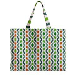 Chevron Wave Green Orange Medium Tote Bag by Alisyart
