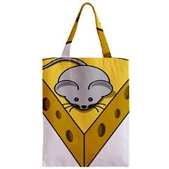 Cheese Mose Yellow Grey Zipper Classic Tote Bag by Alisyart