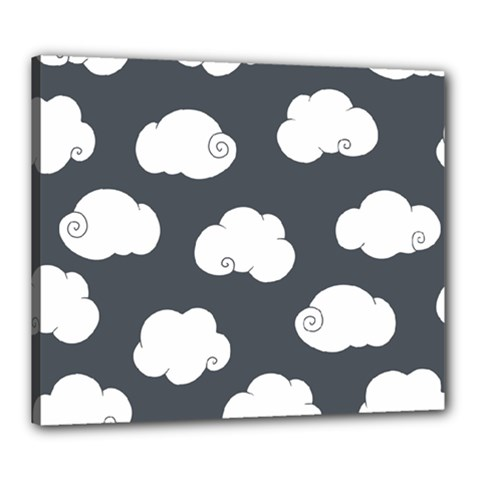 Cloud White Gray Sky Canvas 24  X 20  by Alisyart