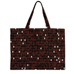 Cubes Small Background Zipper Large Tote Bag by Simbadda