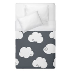 Cloud White Gray Sky Duvet Cover (single Size) by Alisyart