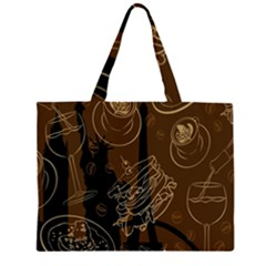 Coffe Break Cake Brown Sweet Original Zipper Large Tote Bag by Alisyart