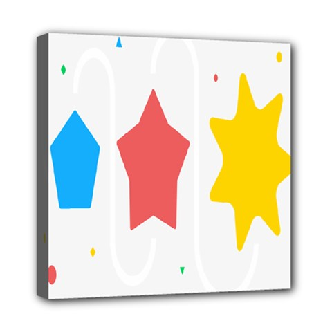 Evolution Jumsoft Star Mini Canvas 8  X 8  by Alisyart