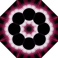 Circle Border Hole Black Red White Space Hook Handle Umbrellas (medium) by Alisyart