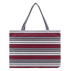 Fabric Line Red Grey White Wave Medium Tote Bag by Alisyart