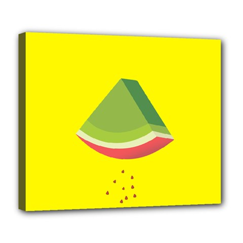 Fruit Melon Sweet Yellow Green White Red Deluxe Canvas 24  X 20   by Alisyart