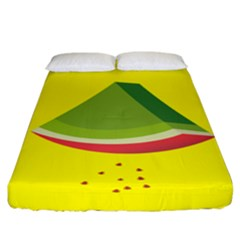 Fruit Melon Sweet Yellow Green White Red Fitted Sheet (king Size) by Alisyart