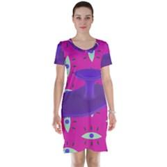 Eye Purple Pink Short Sleeve Nightdress by Alisyart