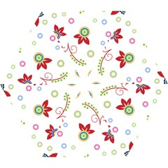 Floral Flower Rose Star Mini Folding Umbrellas by Alisyart