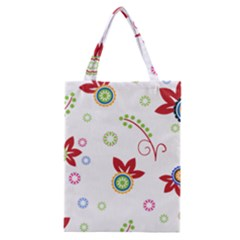 Floral Flower Rose Star Classic Tote Bag by Alisyart