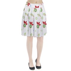 Floral Flower Rose Star Pleated Skirt