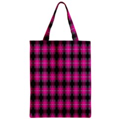 Cell Background Pink Surface Zipper Classic Tote Bag by Simbadda