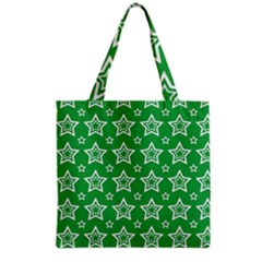 Green White Star Line Space Grocery Tote Bag by Alisyart
