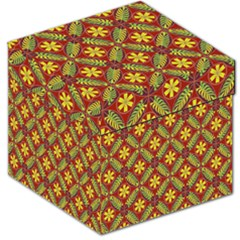 Abstract Yellow Red Frame Flower Floral Storage Stool 12   by Alisyart