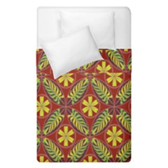 Abstract Yellow Red Frame Flower Floral Duvet Cover Double Side (single Size) by Alisyart