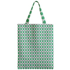 Crown King Triangle Plaid Wave Green White Zipper Classic Tote Bag by Alisyart
