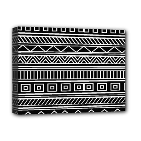 Myria Wrapping Paper Black Deluxe Canvas 16  X 12   by Alisyart