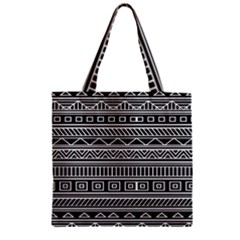 Myria Wrapping Paper Black Zipper Grocery Tote Bag by Alisyart