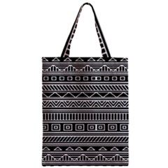 Myria Wrapping Paper Black Zipper Classic Tote Bag by Alisyart
