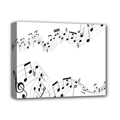 Music Note Song Black White Deluxe Canvas 14  X 11  by Alisyart