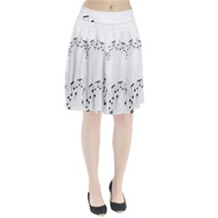 Music Note Song Black White Pleated Skirt