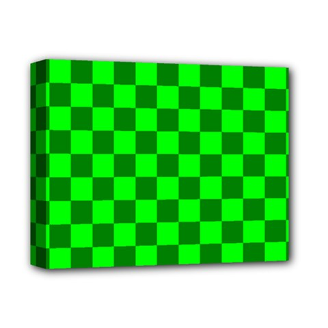 Plaid Flag Green Deluxe Canvas 14  X 11  by Alisyart