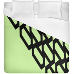 Polygon Abstract Shape Black Green Duvet Cover (king Size) by Alisyart