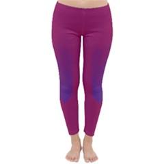 Purple Blue Classic Winter Leggings by Alisyart