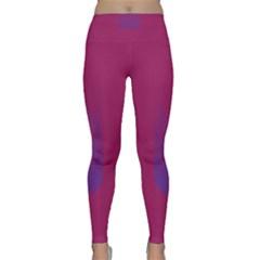 Purple Blue Classic Yoga Leggings by Alisyart