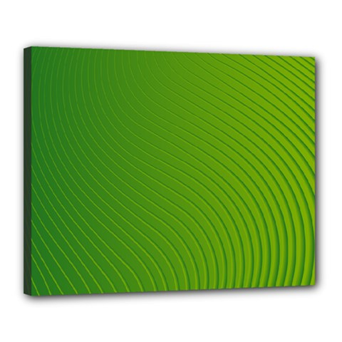 Green Wave Waves Line Canvas 20  X 16  by Alisyart