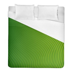 Green Wave Waves Line Duvet Cover (full/ Double Size) by Alisyart