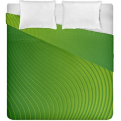 Green Wave Waves Line Duvet Cover Double Side (king Size) by Alisyart