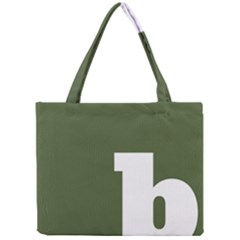 Square Alphabet Green White Sign Mini Tote Bag by Alisyart