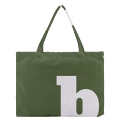 Square Alphabet Green White Sign Medium Tote Bag by Alisyart