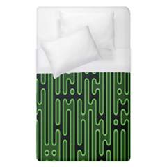 Pipes Green Light Circle Duvet Cover (single Size) by Alisyart