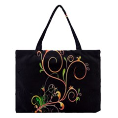 Flowers Neon Color Medium Tote Bag by Simbadda