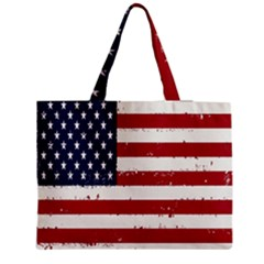 Flag United States United States Of America Stripes Red White Medium Tote Bag by Simbadda