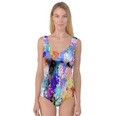 Flowers Colorful Drawing Oil Princess Tank Leotard  by Simbadda