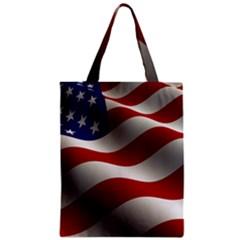 Flag United States Stars Stripes Symbol Zipper Classic Tote Bag by Simbadda