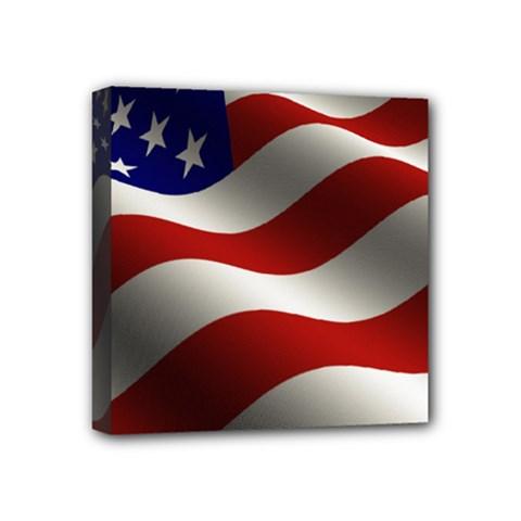 Flag United States Stars Stripes Symbol Mini Canvas 4  X 4  by Simbadda