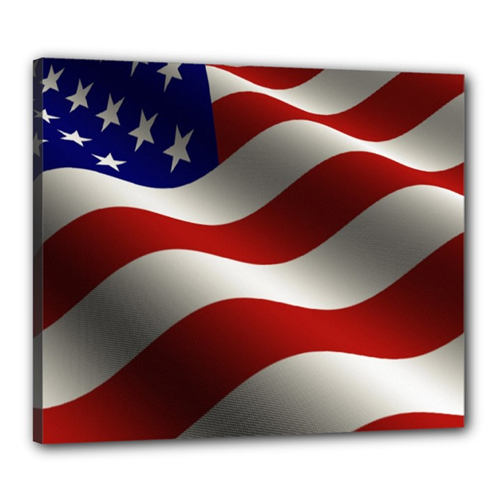 Flag United States Stars Stripes Symbol Canvas 24  x 20