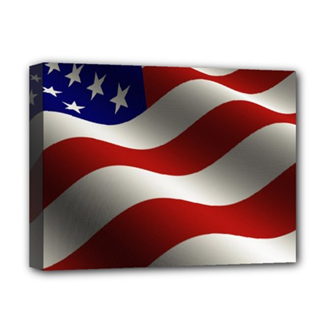 Flag United States Stars Stripes Symbol Deluxe Canvas 16  X 12   by Simbadda
