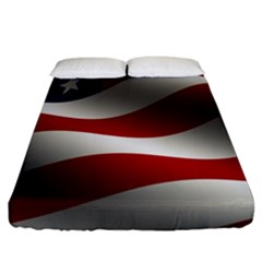 Flag United States Stars Stripes Symbol Fitted Sheet (king Size) by Simbadda