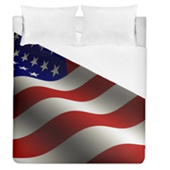 Flag United States Stars Stripes Symbol Duvet Cover (queen Size) by Simbadda