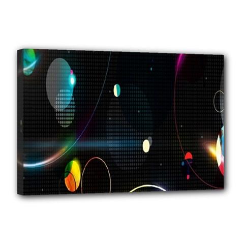 Glare Light Luster Circles Shapes Canvas 18  X 12  by Simbadda