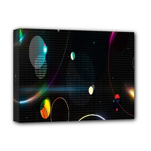 Glare Light Luster Circles Shapes Deluxe Canvas 16  X 12   by Simbadda