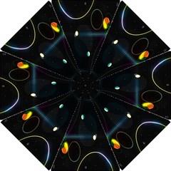 Glare Light Luster Circles Shapes Hook Handle Umbrellas (small) by Simbadda