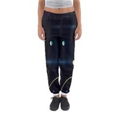 Glare Light Luster Circles Shapes Women s Jogger Sweatpants by Simbadda
