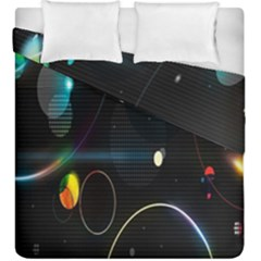 Glare Light Luster Circles Shapes Duvet Cover Double Side (king Size) by Simbadda