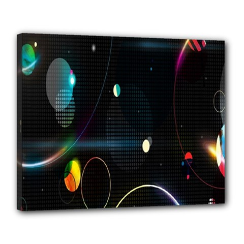 Glare Light Luster Circles Shapes Canvas 20  X 16  by Simbadda